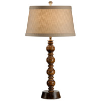 High Country 31 inch 100 watt Wood With Walnut Table Lamp Portable Light