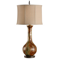 High Country 37 inch 100 watt Hand Colored Table Lamp Portable Light