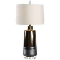 Boho 32 inch 100 watt Metallic Bronze Table Lamp Portable Light