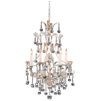 Wildwood Lamps Silver Crystal Chandelier in Brass 215 photo thumbnail