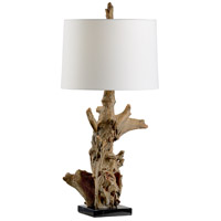 Riverwood 35 inch 100 watt Driftwood and Black Table Lamp Portable Light