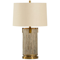 Whites Creek 28 inch 100 watt Driftwood and Antique Brass Table Lamp Portable Light