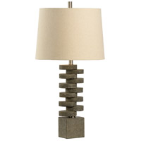 Artisan 31 inch 100 watt Textured Charcoal Grey Table Lamp Portable Light