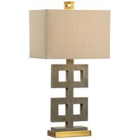 Wildwood 21758 Ross 32 inch 100 watt Concrete Table Lamp Portable Light