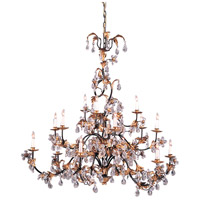 Wildwood Lamps Gold And Crystals Chandelier in Hand Finished With Lead Crystal 219