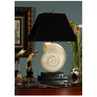 Wildwood Lamps Transitional 1 Light Stone Nautilus Lamp 22005