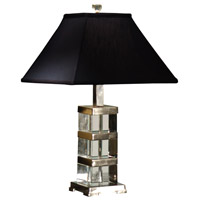 Wildwood Lamps Crystal Blocks Table Lamp in Crystal With Nickel Plated Solid Brass 22107 photo thumbnail