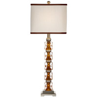 Wildwood Lamps Hidden Amber Table Lamp in Brushed Nickel Mounting 22206 photo thumbnail