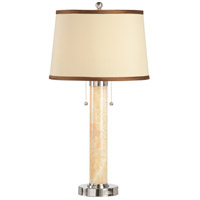 Transitional 30 inch 60 watt Nickel Accents Table Lamp Portable Light