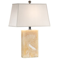 Transitional 25 inch 100 watt Genuine Quarry Marble Table Lamp Portable Light