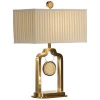 Wildwood Lamps Stone Target Table Lamp in Antique Patina On Cast Brass 22306 photo thumbnail