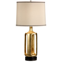 Wildwood 22337 Transitional 30 inch 100 watt Gold Leaf Table Lamp Portable Light