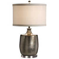Transitional 29 inch 100 watt Silver Table Lamp Portable Light