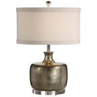 Transitional 24 inch 100 watt Silver Lacquer Table Lamp Portable Light