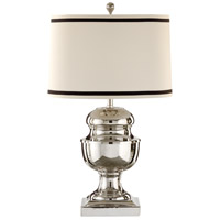 Wildwood Lamps Bowler Cap Table Lamp in Polished Nickel Plate 22358