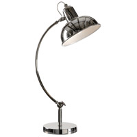 Wildwood Lamps Miscellaneous Swooping Ball Lamp Table Lamp in Nickel Plated 22372