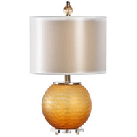 Wildwood 22405 Transitional 26 inch 100 watt Amber Glass Table Lamp Portable Light