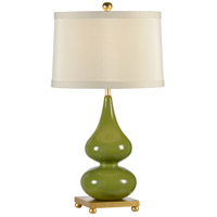 Wildwood 22408 Transitional 28 inch 100 watt Fired Ceramic In Paint Table Lamp Portable Light