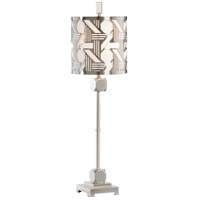 Transitional 35 inch 100 watt Burnished Nickel Table Lamp Portable Light