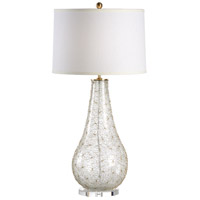 Transitional 36 inch 100 watt Clear Glass Wrapped With Gold Wire Table Lamp Portable Light