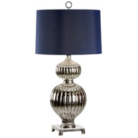 Transitional 41 inch 100 watt Polished Nickel Table Lamp Portable Light