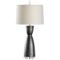 Greenwich 31 inch 100 watt Graphite Table Lamp Portable Light