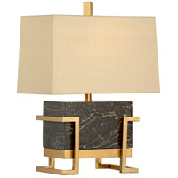 Wildwood 22476 Gavin 23 inch 100 watt Chocolate and Antique Brass Table Lamp Portable Light