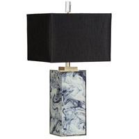 Berkely 31 inch 100 watt Blue and White Table Lamp Portable Light