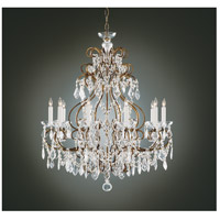Wildwood Lamps Gold And Crystals Chandelier in Old Gold Finish On Brass 2263