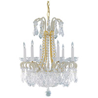 Wildwood Lamps Dripping Crystals Chandelier in Polished Solid Brass 2264