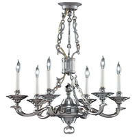 Wildwood Lamps French Brass Chandelier in Antique Pewter Finish On Cast Brass 2299