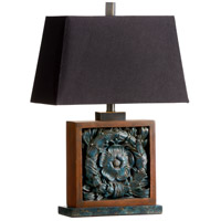 Rosetta 25 inch 100 watt Antique Verdi Table Lamp Portable Light