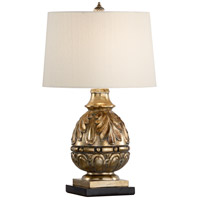 Billiard 29 inch 100 watt Antique Gold Leaf and Composite Table Lamp Portable Light