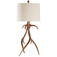 Antler Hall 35 inch 100 watt Antique Copper Table Lamp Portable Light