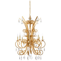 Grand Stairs 8 Light 30 inch Iron and Crystal Chandelier Ceiling Light