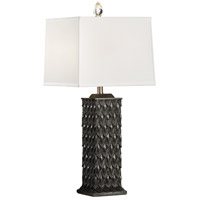 Pinnacle 32 inch 100 watt Charcoal Stone Dust Table Lamp Portable Light