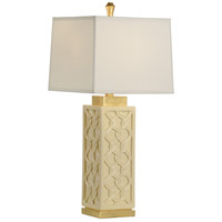 Portico 32 inch 100 watt Butter and Antique Gold Leaf Table Lamp Portable Light