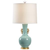 Wildwood 23388 Biltmore 30 inch 100.00 watt Celadon Glaze/Metallic Gold/Antique Gold Leaf Table Lamp Portable Light