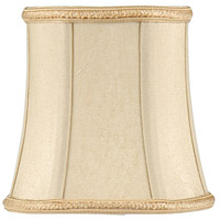 WM Piped Bell With Gold Braid Top And Chandelier Shade