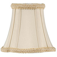 WM Piped, Round Top, Inverted Corner Btm Chandelier Shade