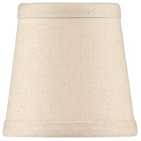 Wildwood Lamps Tan Linen Chandelier Shade 24005 photo thumbnail