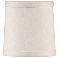 WM With Off White Linen Liner 5 inch Chandelier Shade