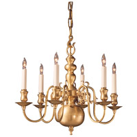 Wildwood Lamps Colonial Brass Chandelier in Antique Brass 247