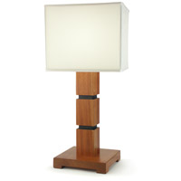 Wildwood Lamps Sektor Table Lamp in Walnut Brown Finish (Fumed) 25007