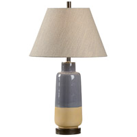 Grey 30 inch 100 watt Grey And Matte Sahara Bronzees Table Lamp Portable Light