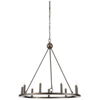 Florentine 9 Light 30 inch Scorched Bronze Chandelier Ceiling Light