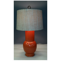 Luna 32 inch 100 watt Pumpkin Glaze Table Lamp Portable Light