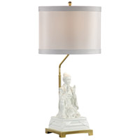 Wildwood Lamps Kiki (Empress) Table Lamp in Hand Painted Gardenia Glaze 26004