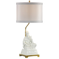 Studio W 26 inch 100 watt Hand Painted Gardenia Glaze Table Lamp Portable Light