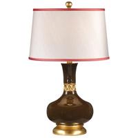 Wildwood 26008-2 Studio W 27 inch 100 watt Glazed Expresso Ceramic With Gold Table Lamp Portable Light